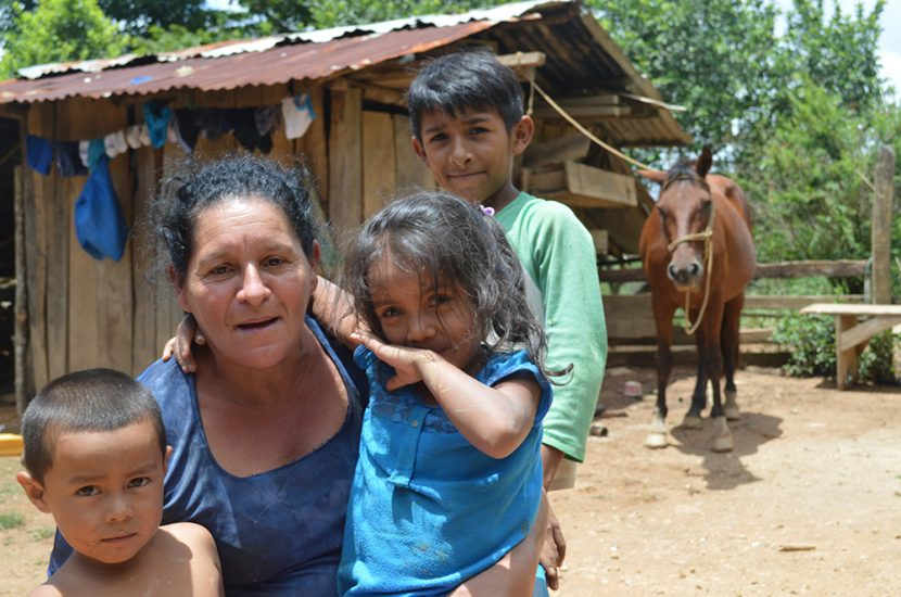 Beneficiary family who bought a solar system in Nicaragua